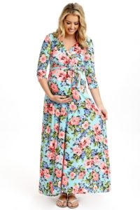 4. Long maternity dresses for baby showers