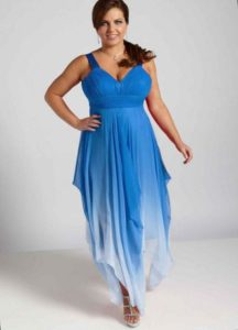42. Plus size evening dresses for cold weather