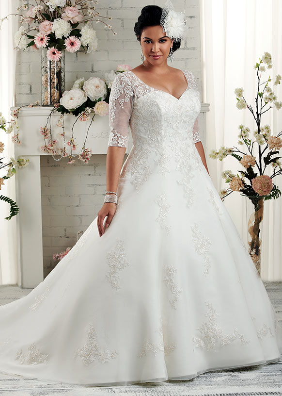 ccbedcef27f 40 Stylish Wedding Dresses for Plus Size Women 2019 - Plus Size ...