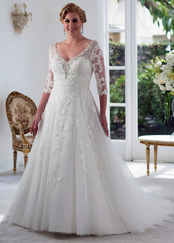40 stylish wedding dresses for plus size women 2020  plus