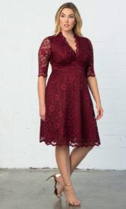. Plus size Christmas party dresses