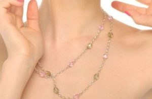 necklace for square neckline dress