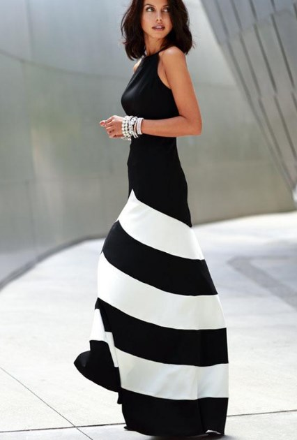 Plus size black and white formal dresses Ideas