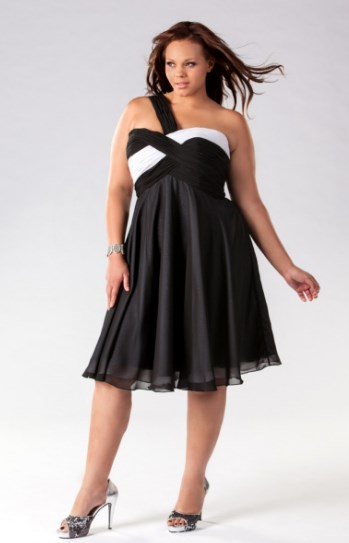 5623eb5dbfb Black And White Plus Size Formal Dresses - Dress Foto and Picture