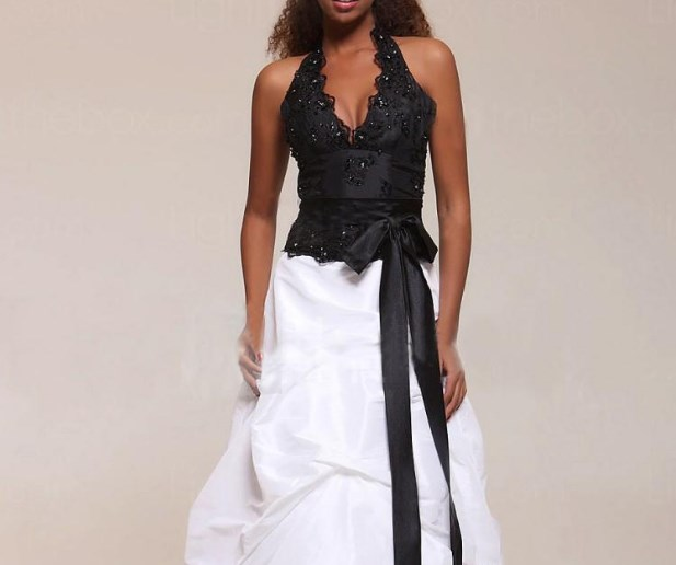 black and white formal wear for ladies