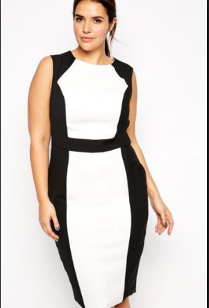 black and white plus size formal dresses pictures