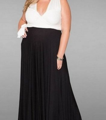 7b9bd9798ab 25 Stylish Black   White Plus Size Formal Dresses - Plus Size Women ...