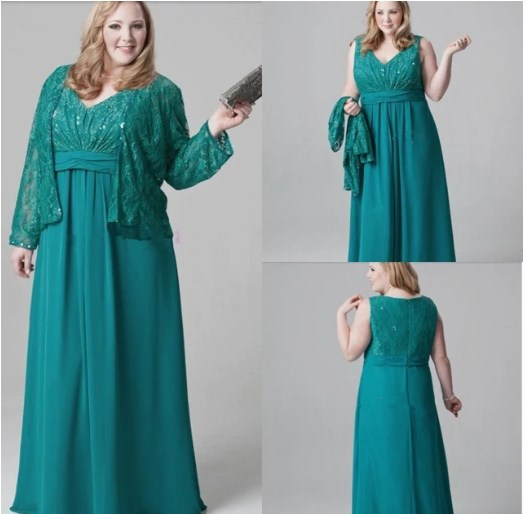 green mother of the bride dresses plus size