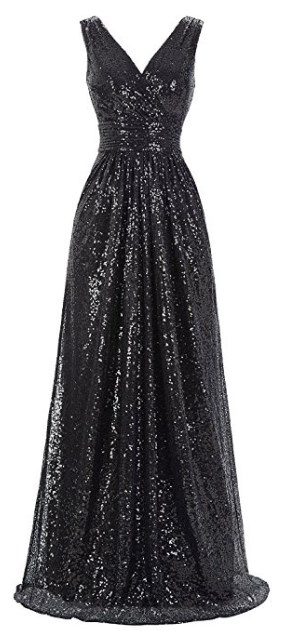 New Years Eve Black Sequin Dress