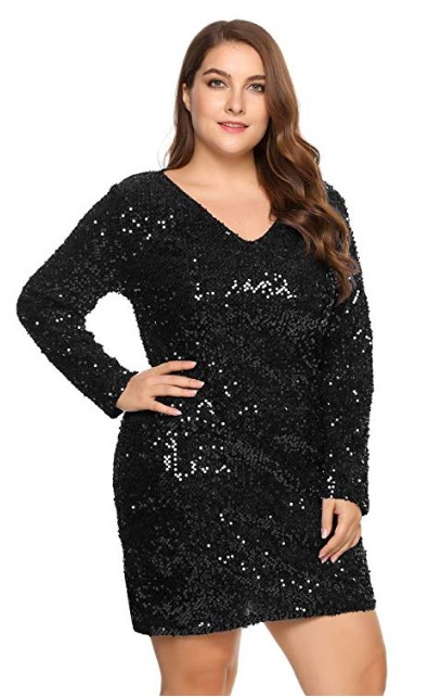 Plus Size Black New Years Eve Dresses
