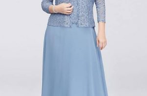 Plus Size Grandmother Of The Bride Dresses With Jacket