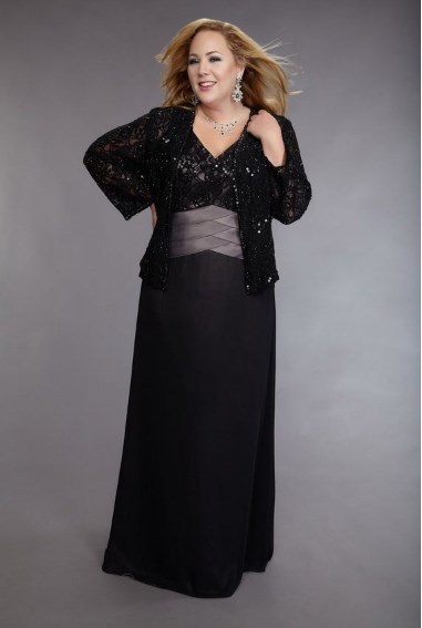 plus size long mother of the bride dresses with jackets