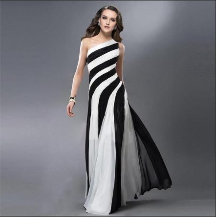 white and black formal dresses plus size