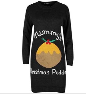 Maternity Christmas Jumper Dress