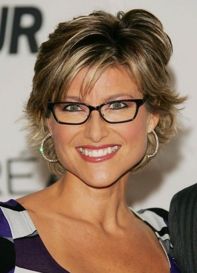 Shoulder Length Medium Hairstyles For 50 Year Old Woman With Glasses