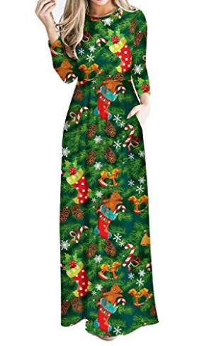 Christmas Party Dress With Sleeves
