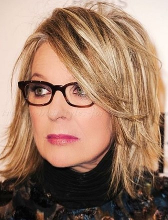 30 Best Medium Length Hairstyles For Over 50 With Glasses Youthful 50s
