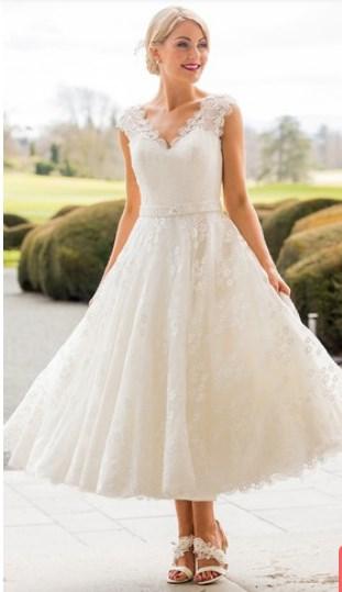 100 Best Tea Length Wedding Dresses For Older Brides 2nd Marriage